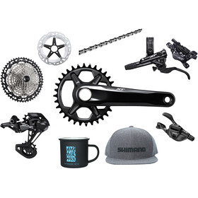 Shimano Deore XT M8100 Priority Pack w/o Hubs 1x12-speed, black/silver